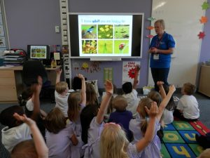 Visitors from the RSPB spoke to us about their work